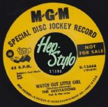 "45Re✦THE INVITATIONS✦""Watch Out Little Girl/You're Like A Mystery""Rare Northern♫"